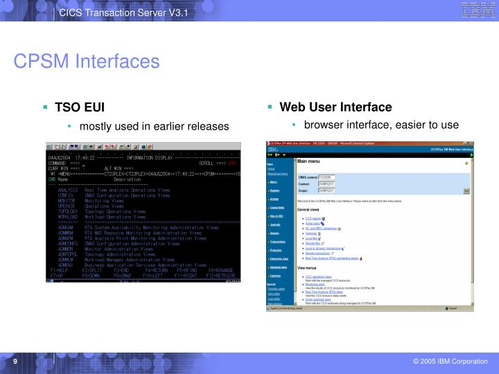 CPSM Interfaces