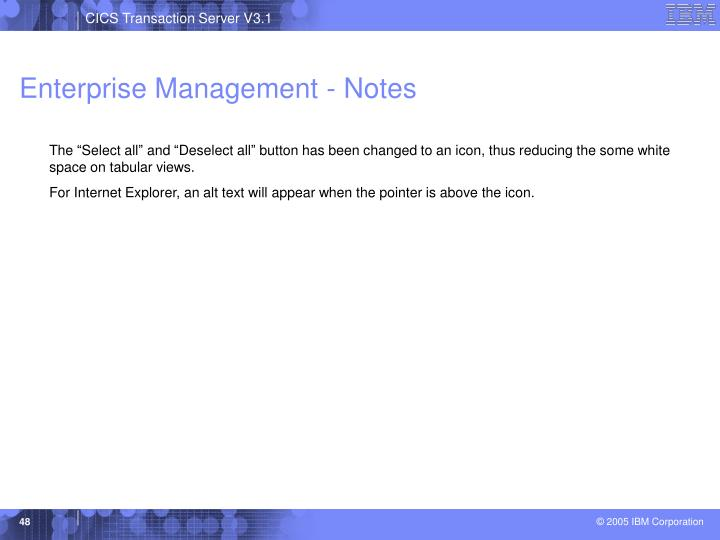 Enterprise Management - Notes