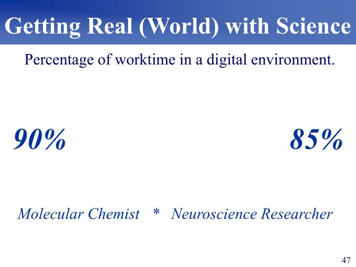 Getting Real (World) with Science