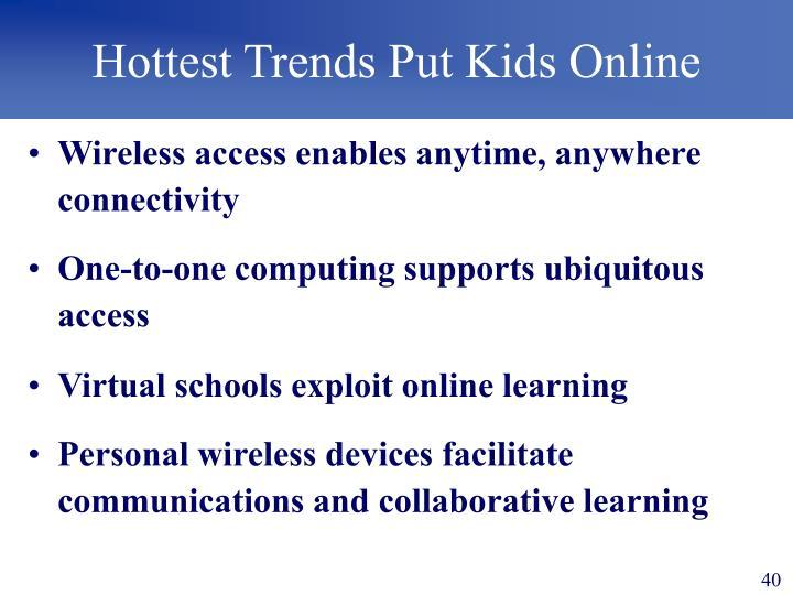 Hottest Trends Put Kids Online