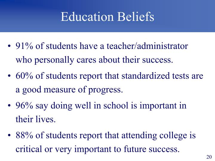 Education Beliefs