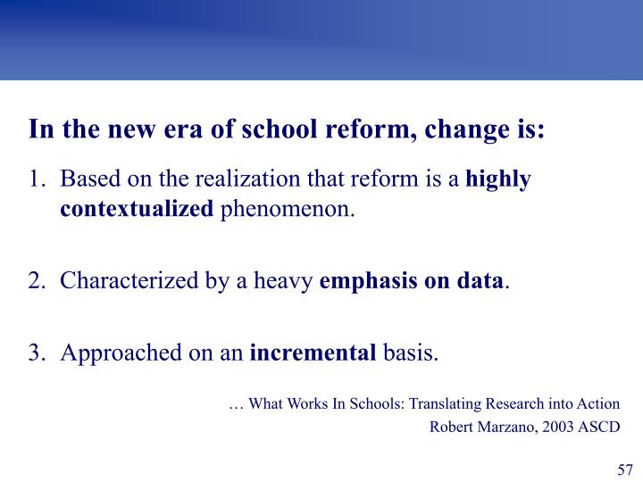 New Era of School Reform