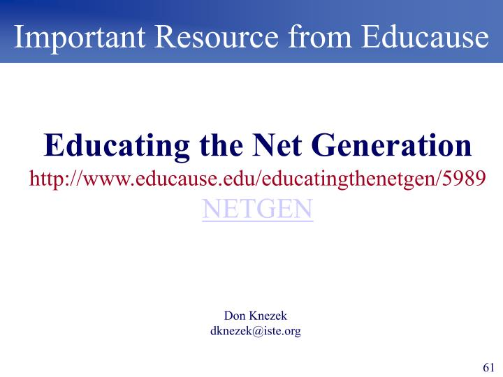 Important Resource from Educause