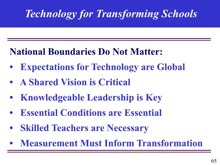 Technology for Transforming Schools