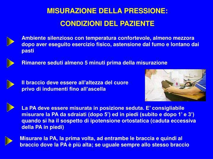 MISURAZIONE DELLA PRESSIONE: