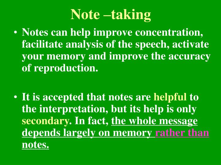Note –taking