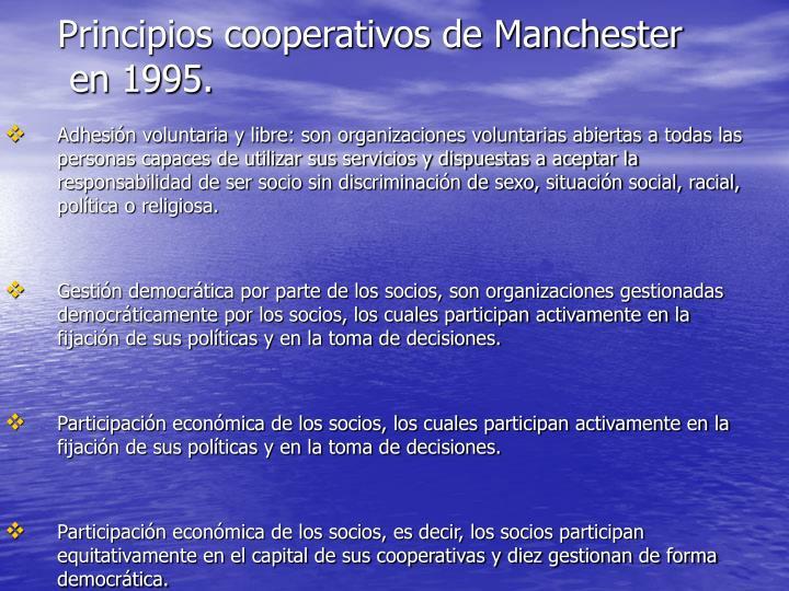Principios cooperativos de Manchester