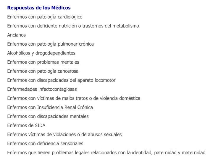 Respuestas de los Médicos