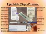 injectable depo provera