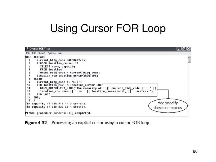 Using Cursor FOR Loop