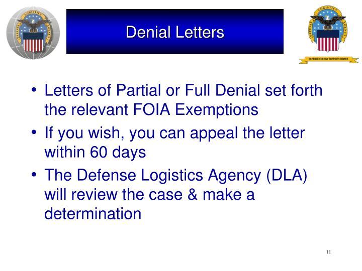 Denial Letters