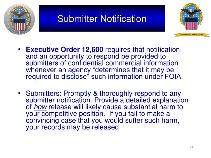 Submitter Notification