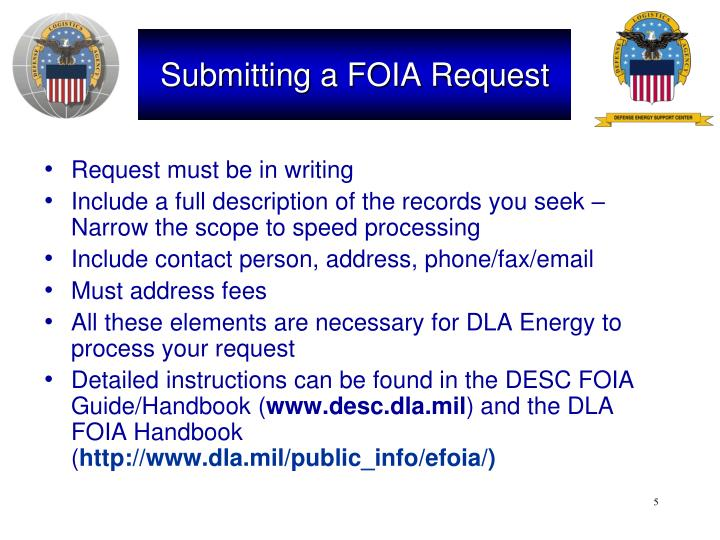 Submitting a FOIA Request