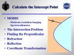 calculate the intercept point