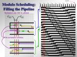 modulo scheduling filling the pipeline2