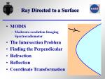 ray directed to a surface