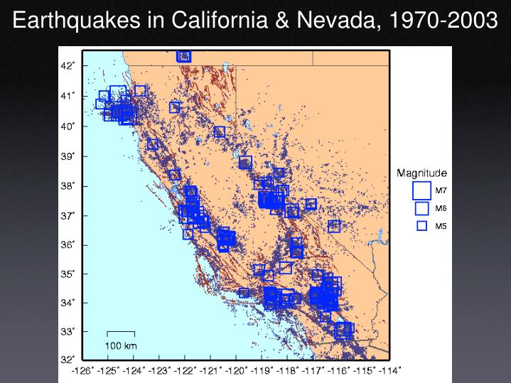 Earthquakes in California & Nevada, 1970-2003