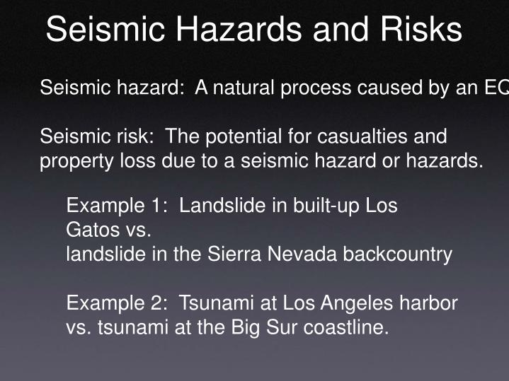 Seismic Hazards and Risks