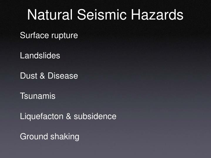 Natural Seismic Hazards