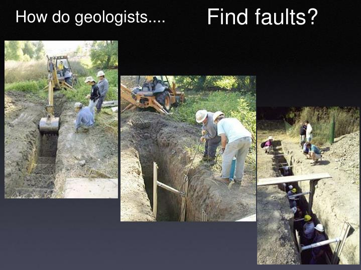 Find faults?