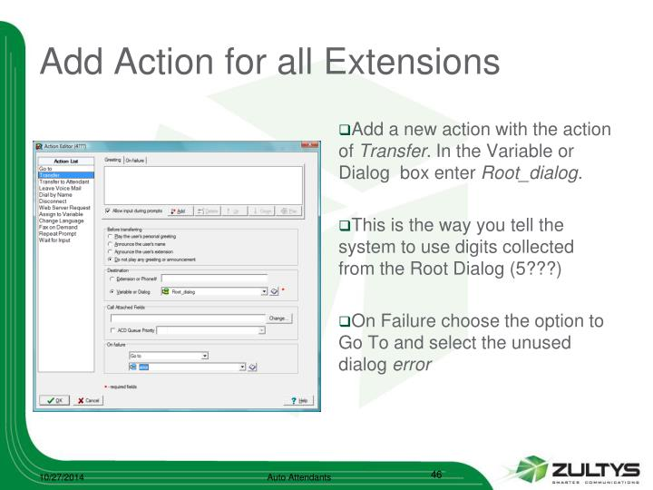Add Action for all Extensions