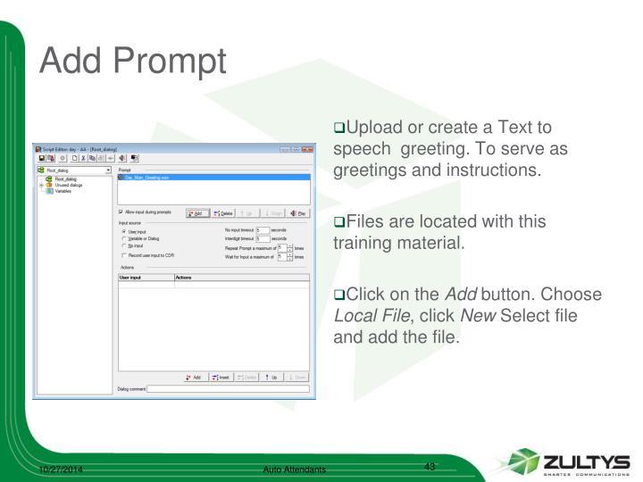 Add Prompt