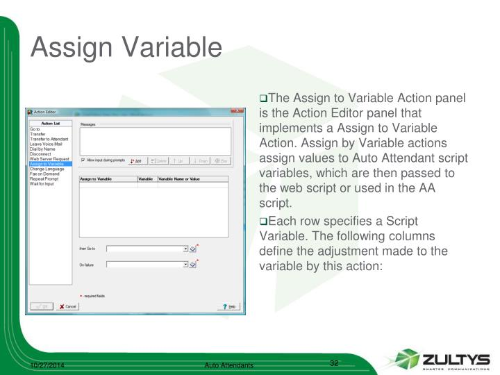 Assign Variable