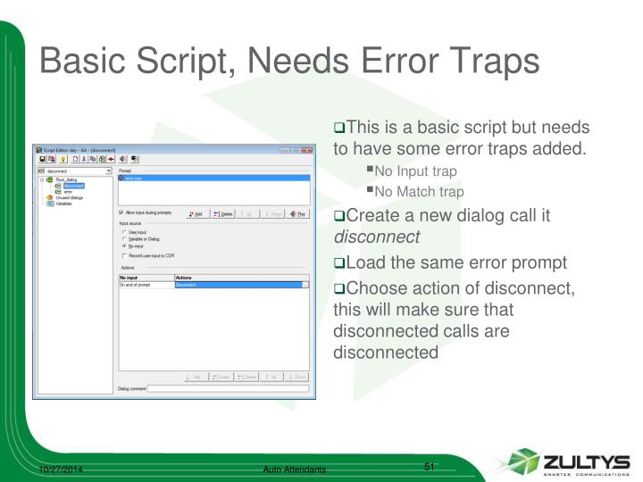 Basic Script, Needs Error Traps