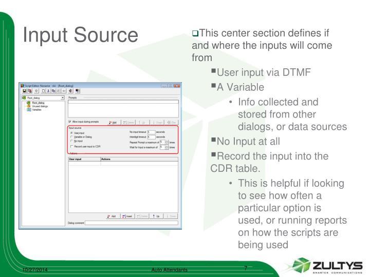 Input Source