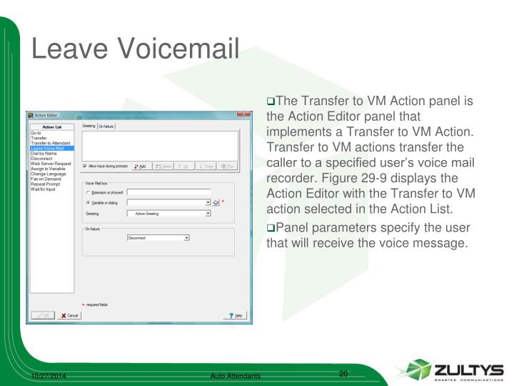 Leave Voicemail