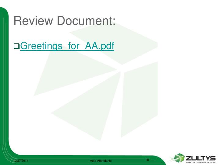 Review Document: