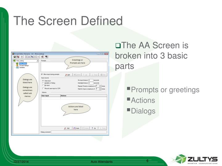 The Screen Defined
