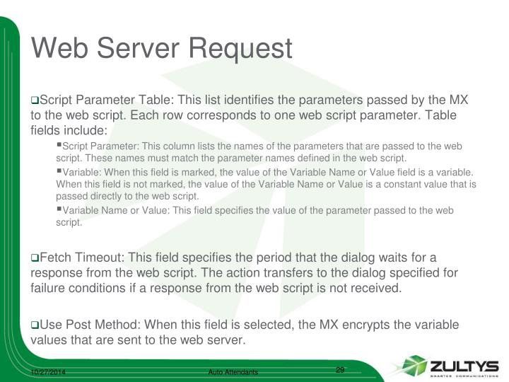 Web Server Request