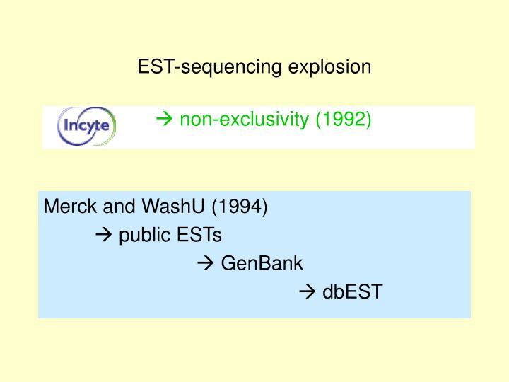 EST-sequencing explosion