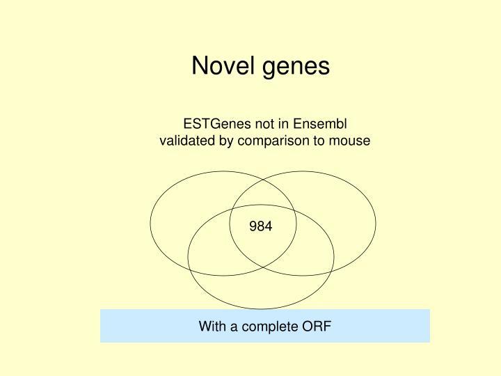 Novel genes