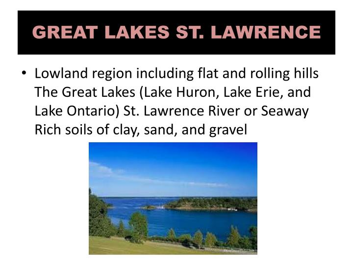 GREAT LAKES ST. LAWRENCE
