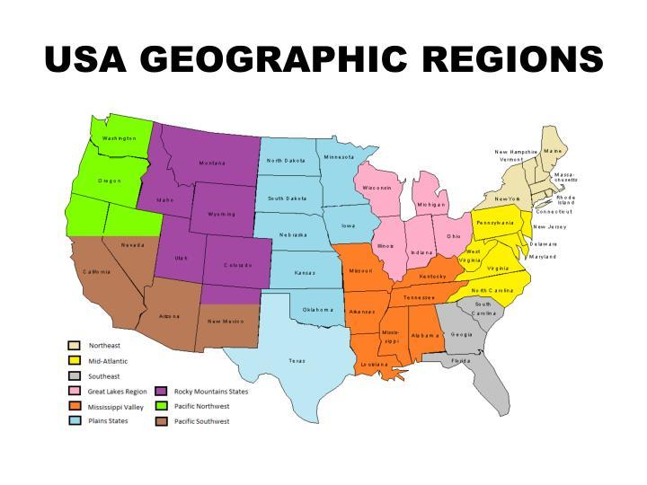 USA GEOGRAPHIC REGIONS