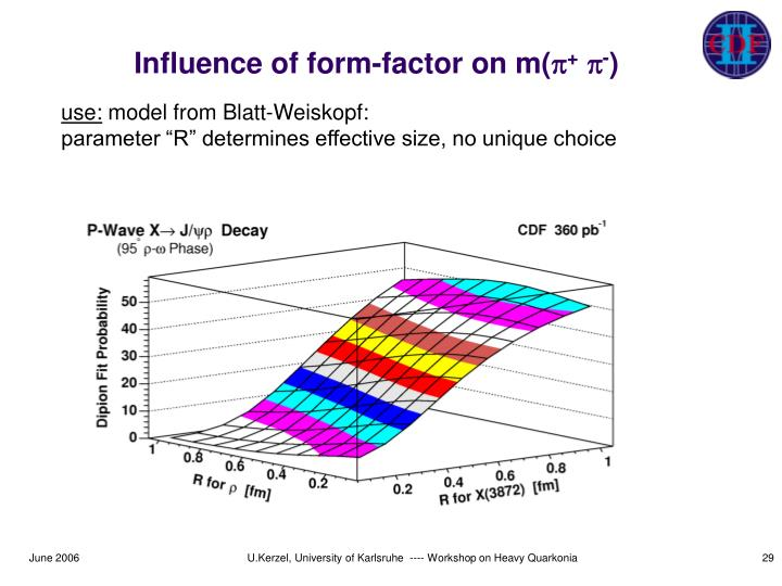 Influence of form-factor on m(