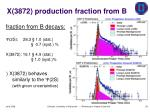 x 3872 production fraction from b