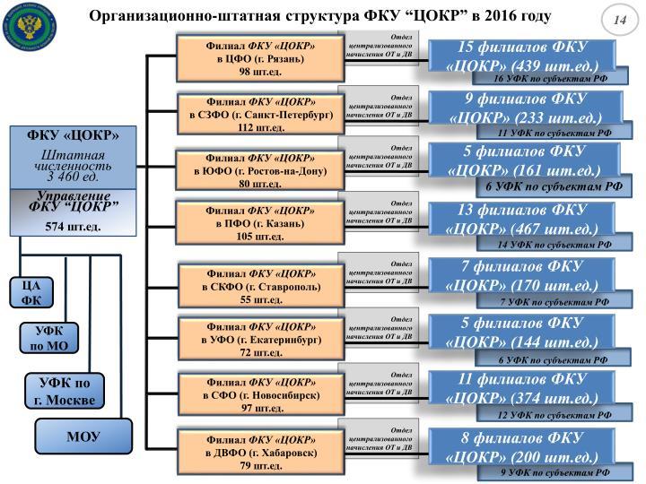 Организационно-штатная структура ФКУ