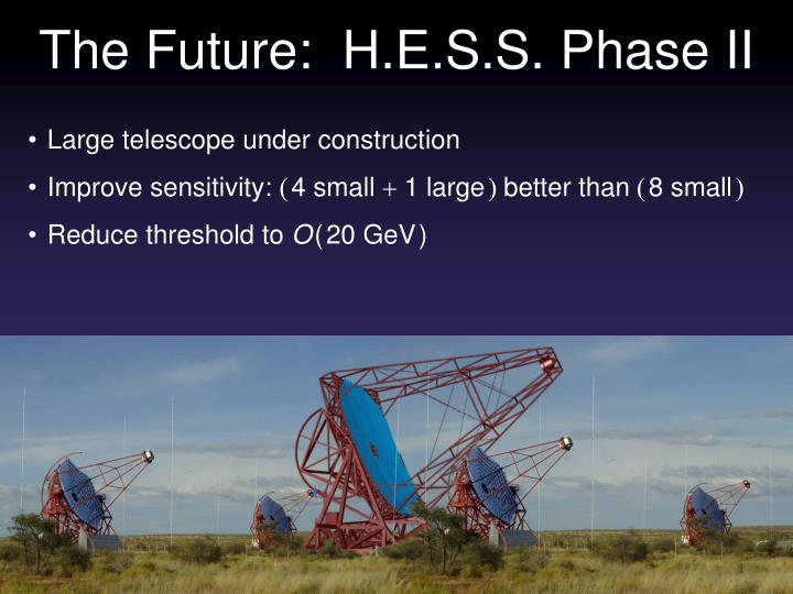 The Future:  H.E.S.S. Phase II