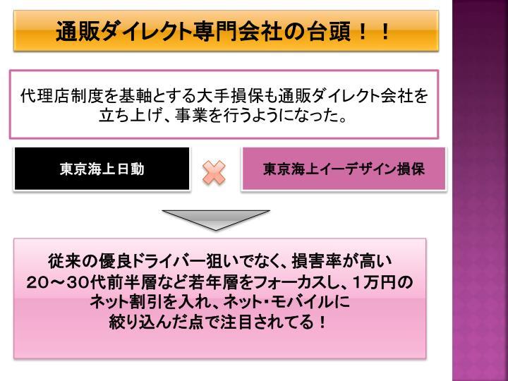 通販ダイレクト専門会社の台頭!!