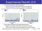 experimental results 2 3