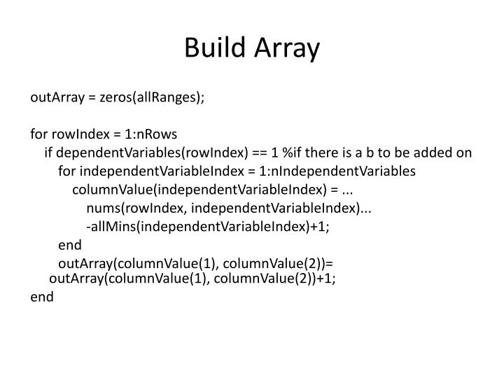 Build Array