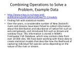 combining operations to solve a problem example data