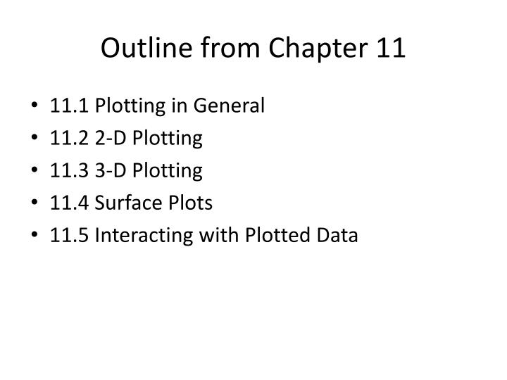 Outline from Chapter 11
