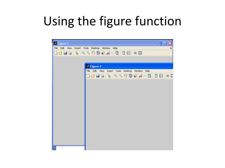 Using the figure function