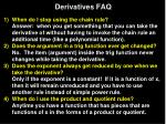 derivatives faq