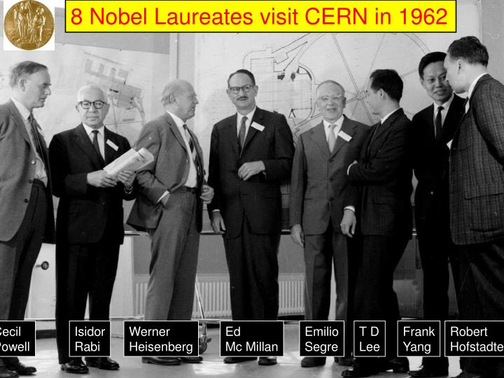 8 Nobel Laureates visit CERN in 1962