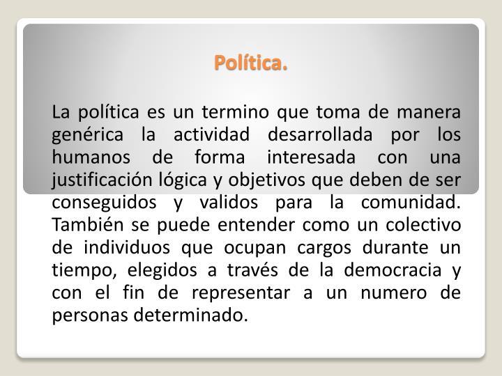 Política.